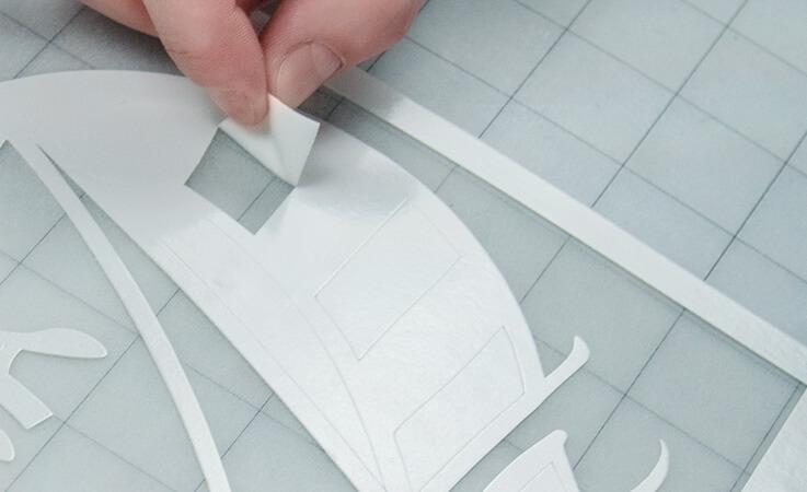 Schritt 3: Ist Ihr Hobbyplotter fertig können Sie nun ihr Design freilegen.