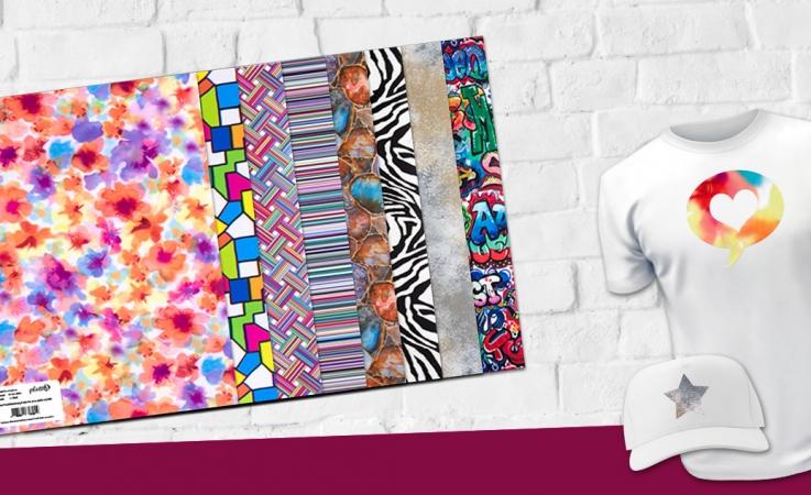 Muster & Motive für Ihre Textilien. Entdecken Sie das plottiX Design Folien Sortiment.