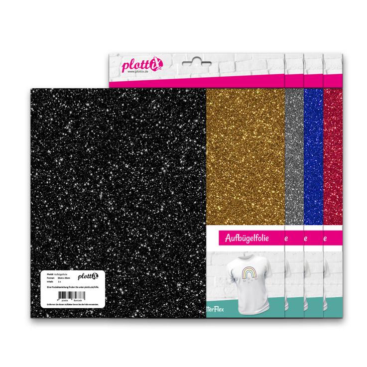 Mit den GlitterFlex Folien bringen Sie Ihre Designs zum funkeln.