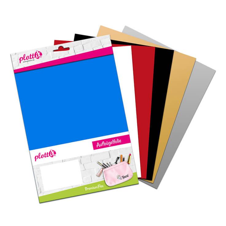 Unsere Bestseller PremiumFlex Folien zusammengefasst – diese Farben kann man immer gebrauchen.