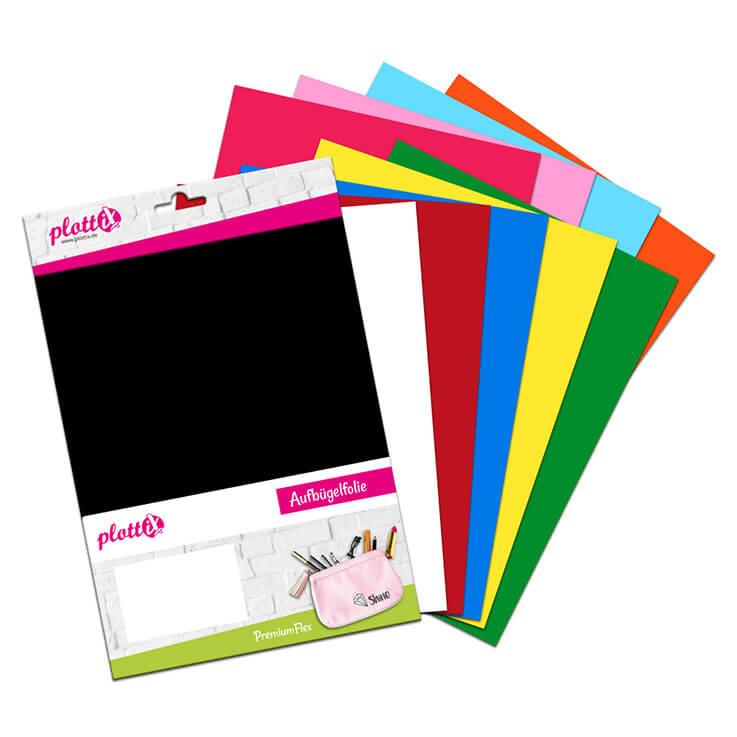 """Bunt und """"flexibel"""" mit unserem PremiumFlex Starterkit bekommen Sie 10 Folien!"""