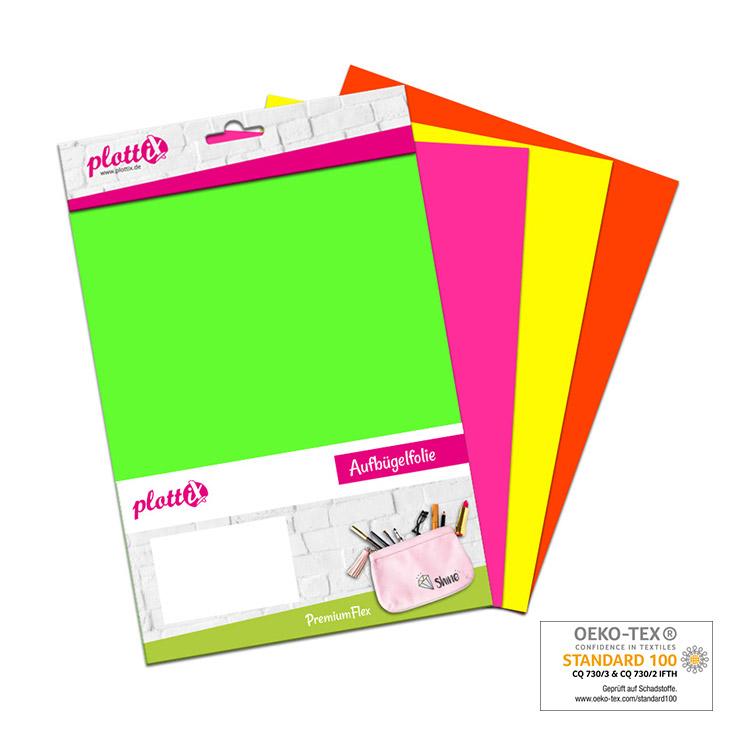 Für alle die auffallen wollen – unsere PremiumFlex Neon Folien gibt es nun auch als Bundle!