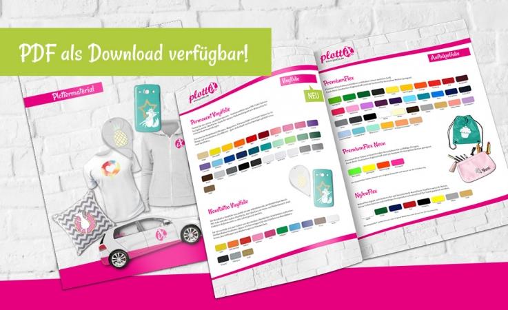 Laden Sie sich unseren plottiX Katalog herunter- Somit haben Sie alle Artikel in der Übersicht.