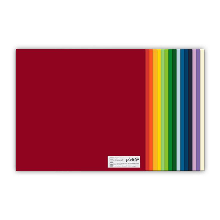 Das plottiX Premium Papier ist in verschiedenen Farben erhältlich.
