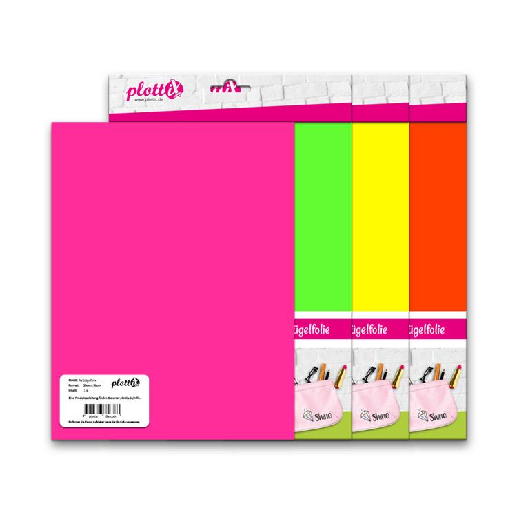 Die beliebten PremiumFlex Folien in knalligen Neon Farben.