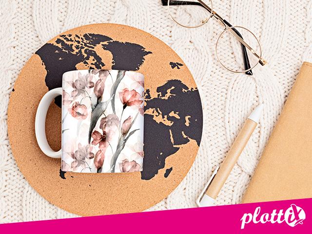 Mithilfe der plottiX Tassenpresse und unserer Tassen speziell für Sublimation können Sie Ihrer Fantasie freien Lauf lassen.